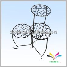 Jardim decorativo 3 níveis de suporte de flor de metal para jardim