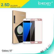 Protecteur d'écran en verre trempé coloré pour téléphone portable pour Galaxy s7