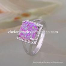 moda jóias 2018 letest anel opala vidraria conjunto de jantar anel 925 sterling silver