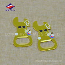 Round keyring metal material keychains custom rubber opener