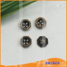 Botón de aleación de zinc y botones de metal y botón de costura de metal BM1593