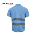 Reflective Tape Safety Work Wear Polo Shirt