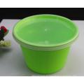 Recipiente de alimento descartável plástico seguro da microonda da cor verde de alta qualidade
