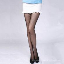 Japanese style sexy black dress pantyhose thin fishnet thigh high stockings women