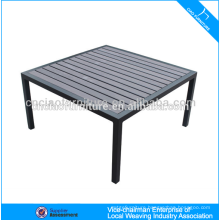 Aluminum frame furniture outdoor plastic wood table