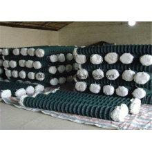 Cerca de malla de alambre galvanizada revestida del acoplamiento de cadena del PVC / malla de alambre del diamante