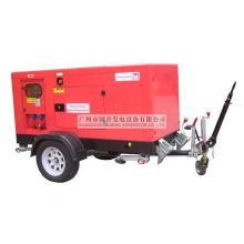 50kVA / 40kw Водяное охлаждение Дизельный бесшумный мобильный генератор с прицепом