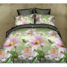 Billig 7 Stück 3D Lily Blume Großhandel Bettwäsche Set 75gsm 85gsm 95gsm