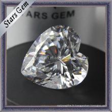 Forme du cœur Gemme synthétique Cubic Zirconia CZ Stone