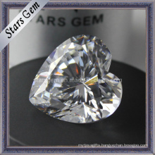 Heart Shape Synthetic Gemstone Cubic Zirconia CZ Stone
