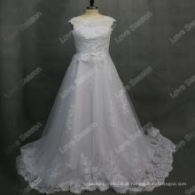 RP0175 100% amostra real rodada decote casaco manga vestido de baile vestidos de noiva encosto esparguete volta vestido de noiva vestido de noiva com renda