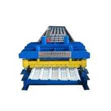 Single layer hydraulic circular arc glazed tiles machine