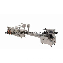 Two Rows (2+1) Biscuit Creaming Machine Connected High Speed Package Machine