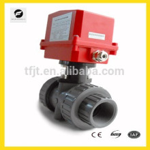 DN40 AC120V UPVC electric actuactor ball valve for Irrigation system,cooling/heating system,Low voltage plumbing system