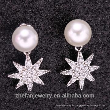 Boucle d'oreille nuptiale 925 Sterling Silver Dangle à la main, Boucle d'oreille de mode turque argent