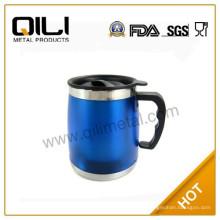 Mode bleu double paroi inox mug voiture tasses