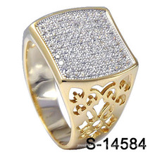 Новое кольцо ювелирных изделий способа ювелирных изделий конструкций Micro с белым CZ (S-14584)