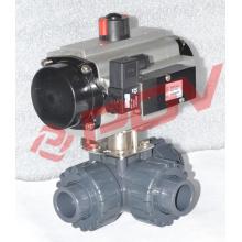 Soupape de commutation pneuamatic valve de gaz de l'eau de nourriture en plastique