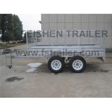 Tandem cage trailer TC105 with 600mm high cage