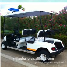 Carro de patrulha da polícia do motor 3KW com 4 assentos e cor branca para venda