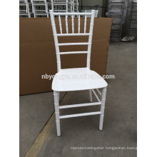 White Monobloc resin chiavari chair at party