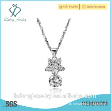 Novo ano dom belas jóias de qualidade superior colares pingentes de diamante para as mulheres