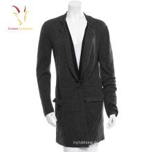 Übergroßer Cardigan aus schwarzer Wolle