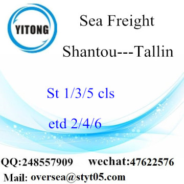 Shantou Port LCL Consolidation To Tallin