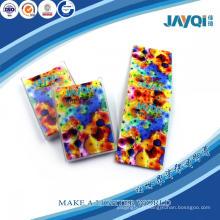 Nettoyant éponge imprimé en microfibre coloré