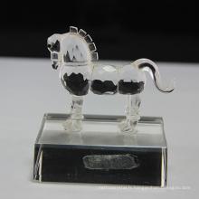 Figurines de cheval en verre cristal vente chaude