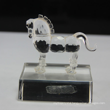 Hot sale crystal glass horse figurines
