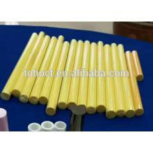 Tubos de cerâmica de zircônia cor amarela Isolada hastes de tubos de alumina cerâmica
