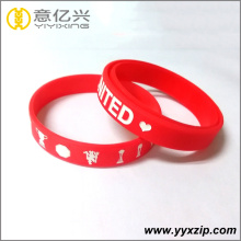 Sports competition souvenir red silicone bracelets