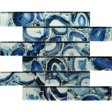Blue Color Cold Spray Swimming Pool Mosaic for Wall Kitchen Bathroom