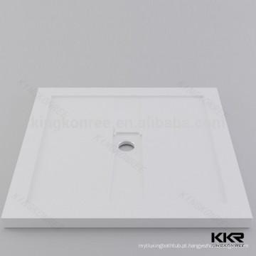 Base de chuveiro anti-derrapante acrílica branca, base de chuveiro acrílica