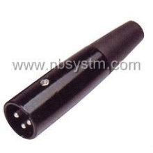 Enchufe de micrófono negro 3P