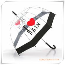Schwarzer Rand-transparenter gerader Regenschirm für Förderung (OS11005)