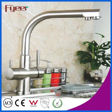 Messing verchromt 3-Wege-Küchenspüle Wasserhahn Filter Wasser-Mixer