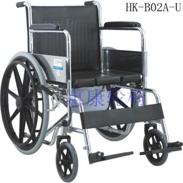 Silla de ruedas de acero inoxidable de rehabilitación ordinaria