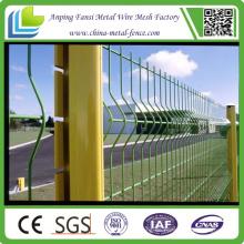 PVC-überzogene Euro-Metall-dekorative V gepresste Schweißgitter-Fechten