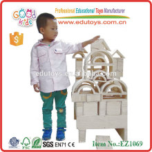 Jumbo 58PCS jouets de construction en bois blocs creux en bois