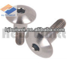 Gr5 titanium shouldered button head bolt with hex socket