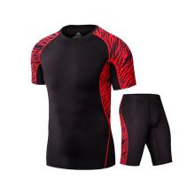 Herren Sportbekleidung Sport-T-Shirt mit abgerundetem Saum