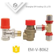 EM-V-B062 válvula de seguridad de ángulo de manija roja para calentador de agua eléctrico