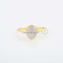 Wholesale Rainbow Moonstone 925 Silver Ring for Best Gifts