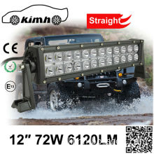 Motorcycle 12 Inch 6120LM led light bar for agriculture machinery
