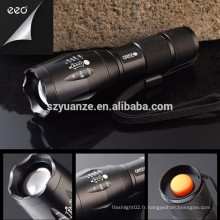 High-Power Best Q5 Police Rechargeable Zoomable Led Torch Lampe de poche
