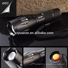 Высокая мощность Лучший Q5 полиции Перезаряжаемый Zoomable Led фонарик факел
