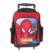 School Backpack with Wheels, Trolley, Spider-man Logo