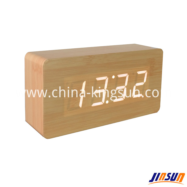 Wood Led Clock 105 1